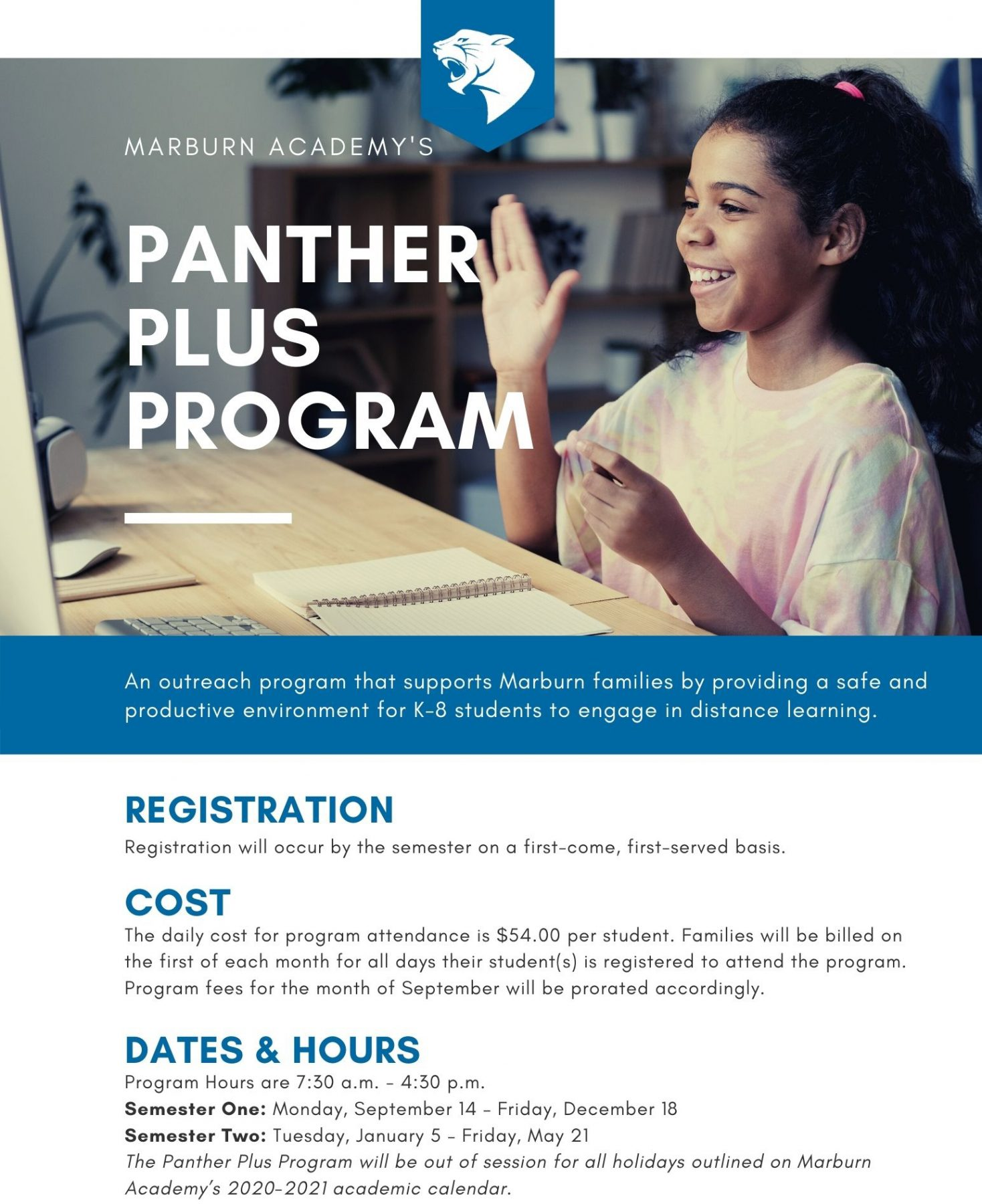 Panther Plus Program Details